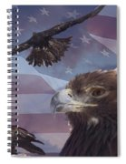 Golden Eagle Collage Spiral Notebook
