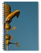 Golden Eagle Weather Vane Spiral Notebook