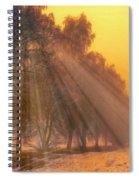 Golden Early Morning Sun Rays On The Farm Chesterhurst L B Spiral Notebook