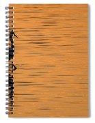 Golden Egret Spiral Notebook