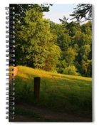 Golden Evening Light Spiral Notebook