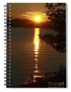 Golden Evening Sun Rays Spiral Notebook