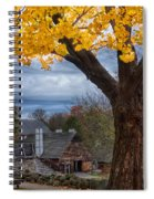 Golden Fall Colors Over Iron Works Spiral Notebook