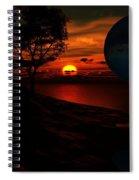 Golden Fantasy Spiral Notebook