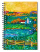Golden Farm Scene Sketch Spiral Notebook
