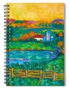 Golden Farm Scene Sketch Spiral Notebook