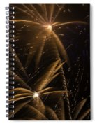 Golden Fireworks Spiral Notebook