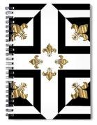 Golden Fleurs-de-lis Optical Illusion Spiral Notebook