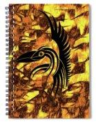 Golden Flight Contemporary Abstract Spiral Notebook
