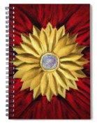 Golden Flower Spiral Notebook