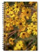 Golden Flowers Spiral Notebook