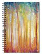 Golden Forest Hidden Unicorn - Large Original Oil Painting By Gill Bustamante Spiral Notebook