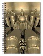 Golden Fractal #1 Spiral Notebook