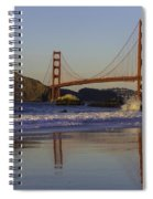 Golden Gate And Waves Spiral Notebook