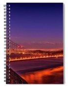 Golden Gate At Dusk Spiral Notebook