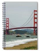 Golden Gate Bridge From Baker Beach Spiral Notebook