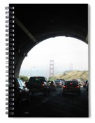 Golden Gate Bridge From Tunnel Spiral Notebook