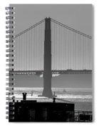 Golden Gate Bridge In Its Beauty At Sunset Spiral Notebook
