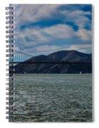 Golden Gate Bridge Panoramic Spiral Notebook