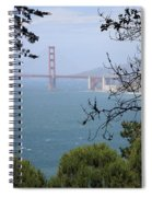 Golden Gate Bridge Through The Trees Spiral Notebook