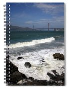Golden Gate Bridge With Surf Spiral Notebook
