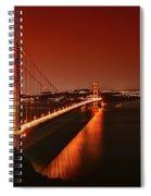 Golden Gate Evening Spiral Notebook