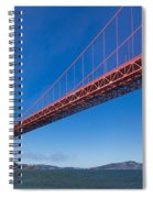 Golden Gate From The Bay Spiral Notebook