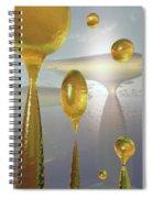 Golden Globs Spiral Notebook