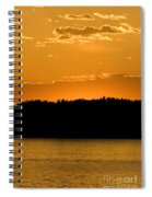 Golden Glow Sunset Spiral Notebook