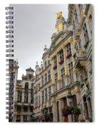 Golden Grand Place Spiral Notebook