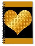 Golden Heart Black  Spiral Notebook