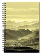 Golden Hills Of The Tonto Spiral Notebook