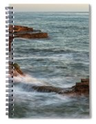 Golden Hour At Sunset Cliffs Spiral Notebook