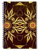 Golden Infinity Spiral Notebook