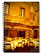 Golden Italian Cafe Spiral Notebook