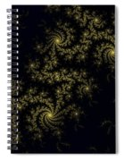 Golden Lace On Black Velvet Spiral Notebook
