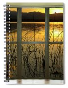 Golden Lake Bay Picture Window View Spiral Notebook