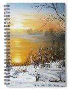 Golden Lake Sunrise  Spiral Notebook