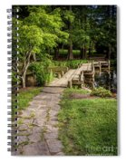 Golden Light On Footbridge Japanese Garden Maymont Spiral Notebook
