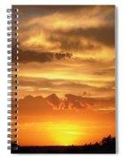 Golden Light Spiral Notebook