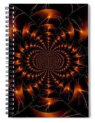 Golden Lightning Illusion Spiral Notebook