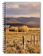 Golden Lonesome Spiral Notebook