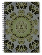 Mandala In Pewter And Gold Spiral Notebook