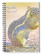 Golden-mantled Ground Squirrel, Digital Art Spiral Notebook