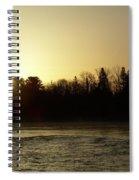 Golden Mississippi River Sunrise Spiral Notebook