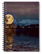 Golden Moon Spiral Notebook