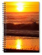 Golden Ocean City Sunrise Spiral Notebook