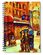 Golden Olden Days Spiral Notebook