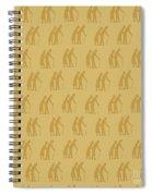 Golden Oldies Wallpaper Spiral Notebook