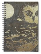 Golden Owl Spiral Notebook